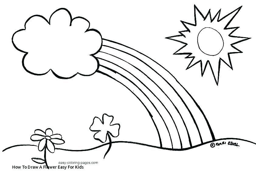 Easy Drawing Flower Simple Drawings Of Flowers Easy Drawings