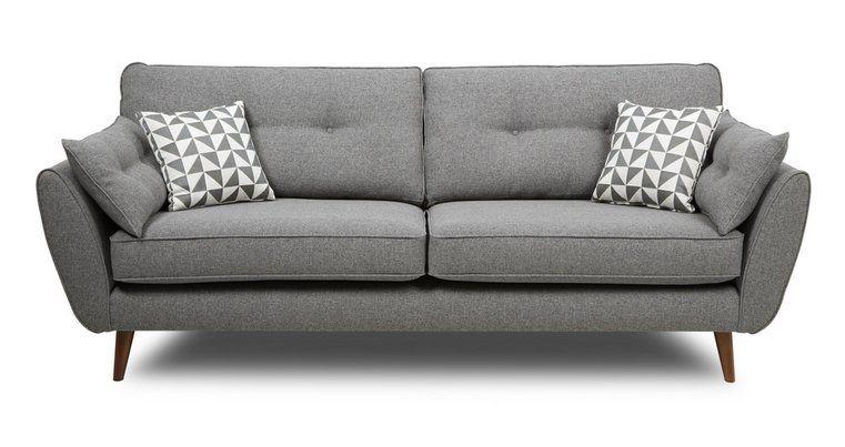 Zinc 3 Seater Sofa Zinc Dfs Seater Sofa Grey Sofa Uk Fabric Sofa