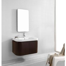 "View the Virtu USA ES-1836 35"" Marvella Vanity Set - Includes Cabinet, Integrated Ceramic Countertop and Sink, and Mirror at FaucetDirect.com. $1099"