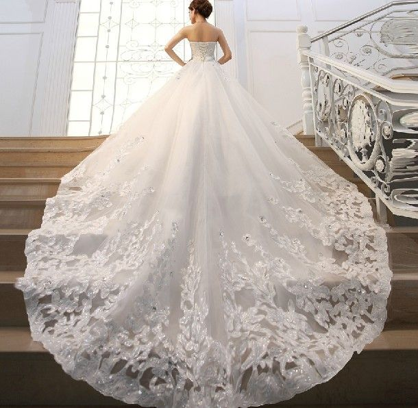Wedding Dresses With A Train Tail Pesquisa Do Google 2018 - Wedding Dresses With A Long Train