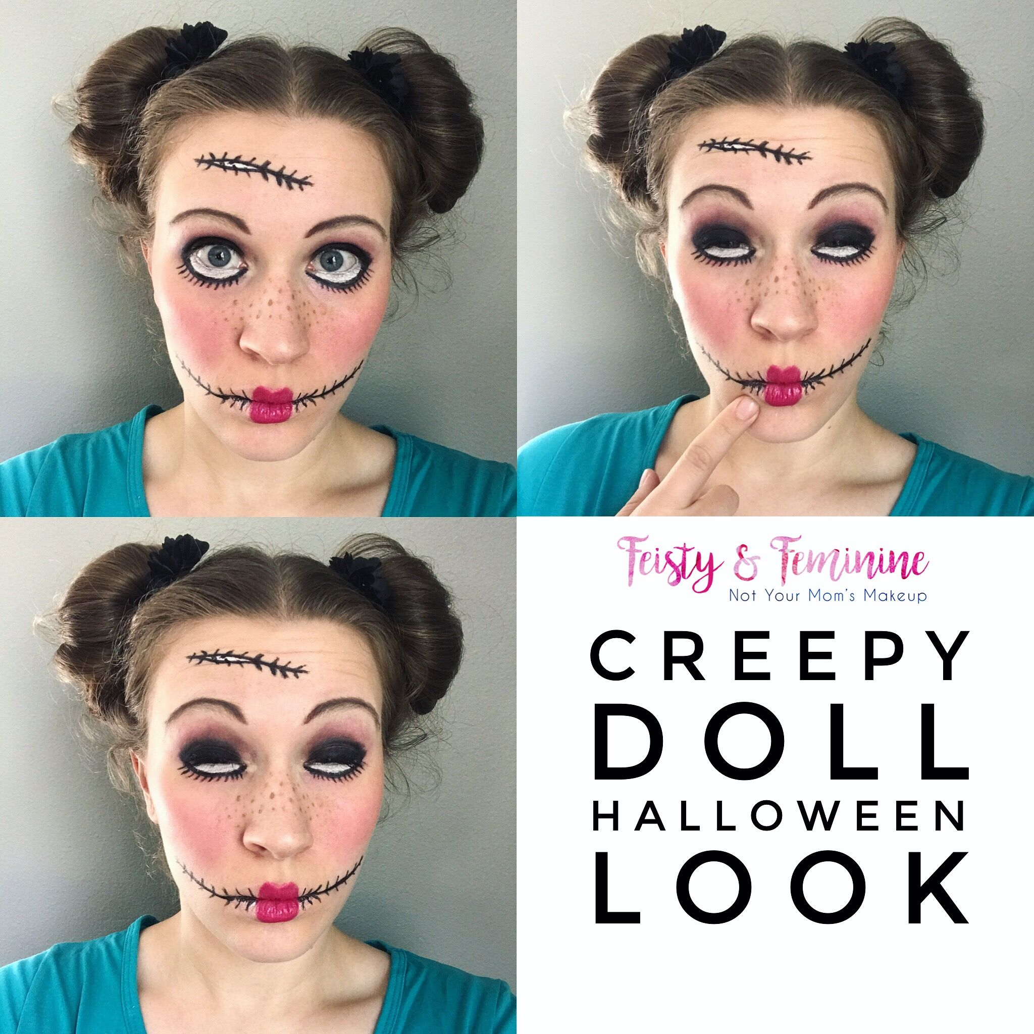 Get ready for Halloween with this creepy doll look! All