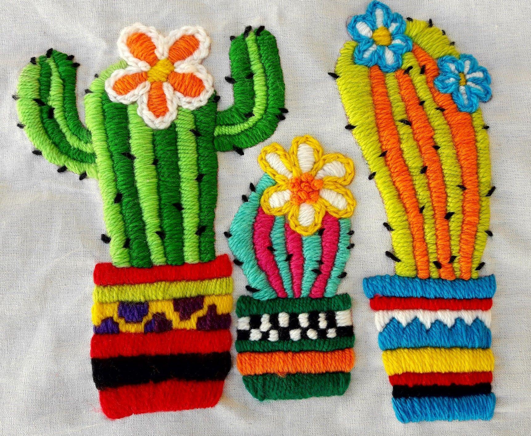 Planteras bordadas #bordadosmexicanos   Corazones bordados