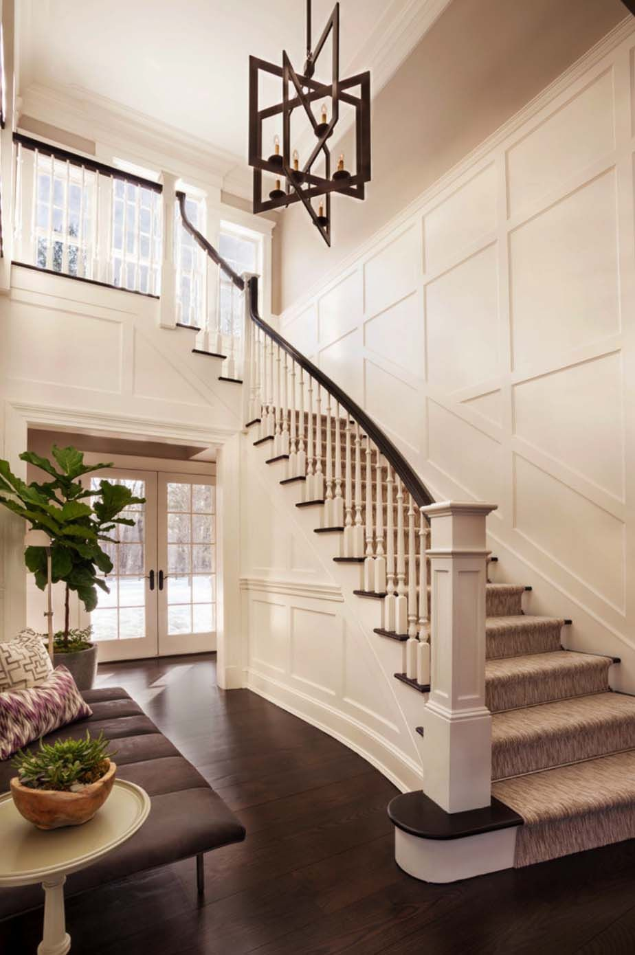 Sumptuous Colonial Home With Traditional Details In New Cannan Foyer Design Staircase Decor Staircase Design