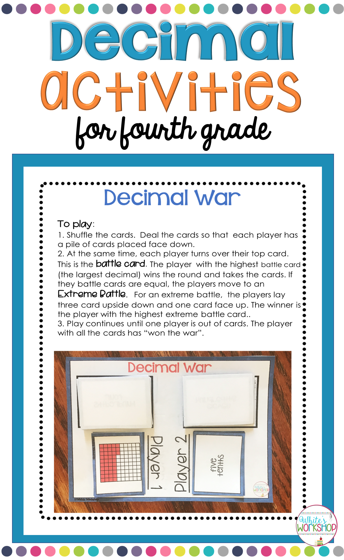 Decimal Games And Activities