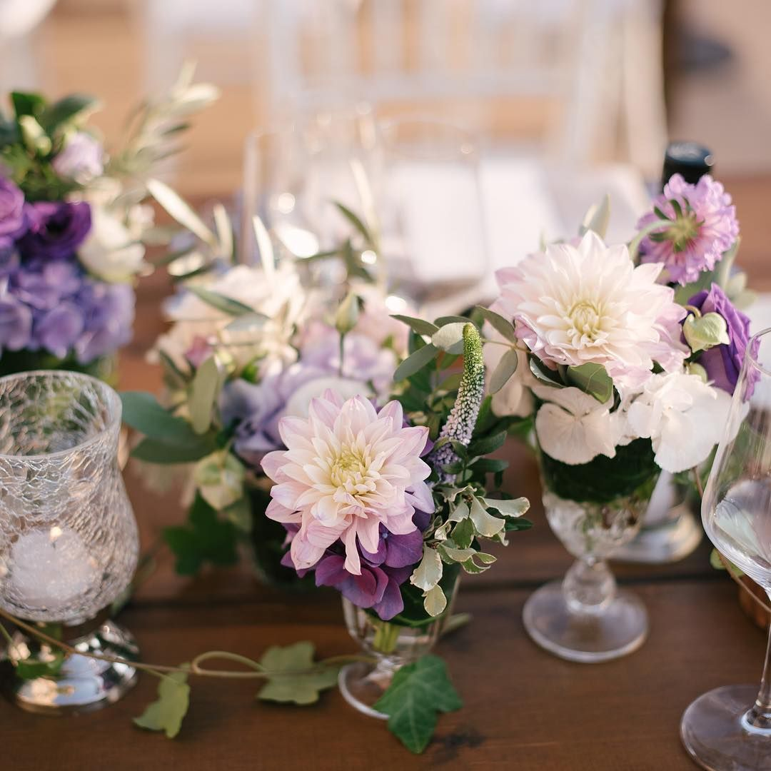 Purple Wedding Ideas With Pretty Details: Hints Of Purple And Blush For Your Wedding Reception Table