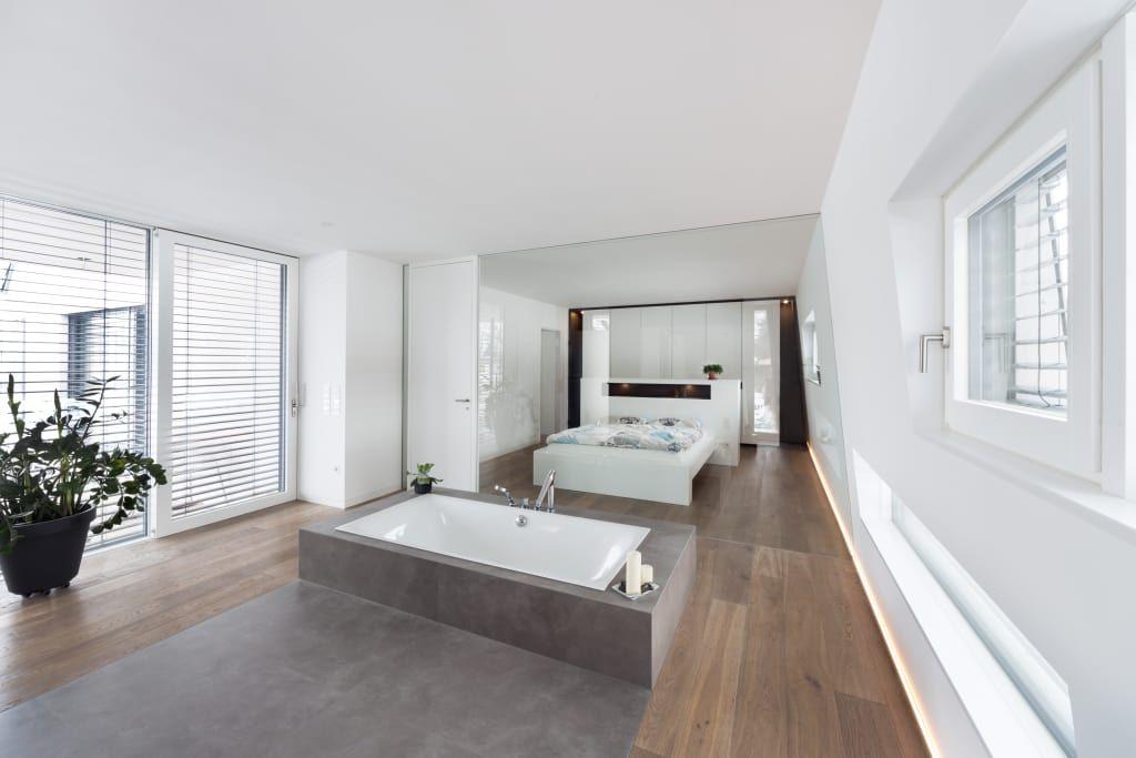 Moderne Badezimmer Bilder Der Anbau von innen