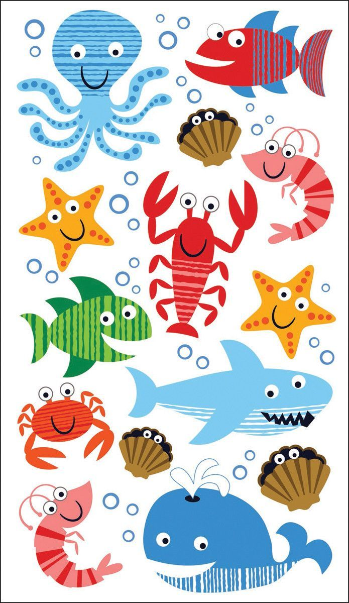 Sticko 58 Stickers - Sea Life Fun   문양   Pinterest   Bajo el mar ...