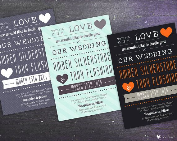 free wedding invitation template, free printables, heart wedding invitation                                                                                                                                                                                 More