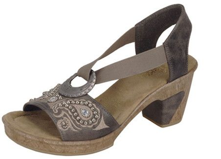 Save up to off original price on ladies Grey Slingback Rieker Heels at  Quarks Shoes today! These Rieker Heels feature decorative detailing and an  open toe ... 9d4ec3f5f9