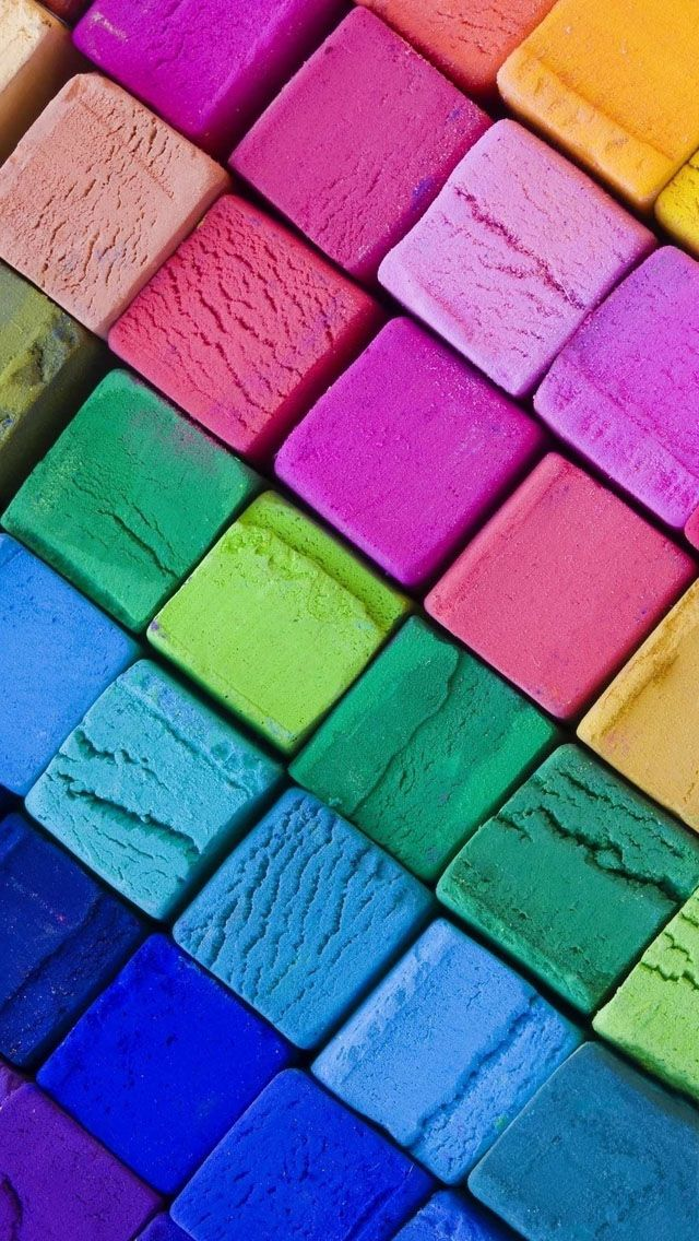 Color Wooden Blocks iPhone Wallpapers Colorful wallpaper