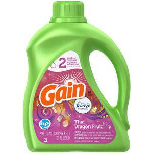 Gain Thai Dragon Fruit He Liquid Laundry Detergent With Febreze