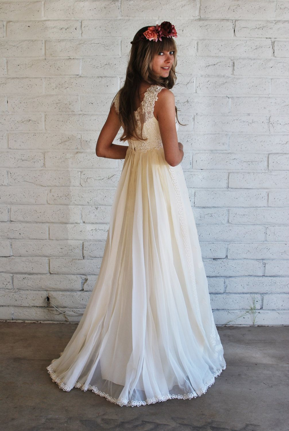 S boho wedding gown weddingdress pinterest s style
