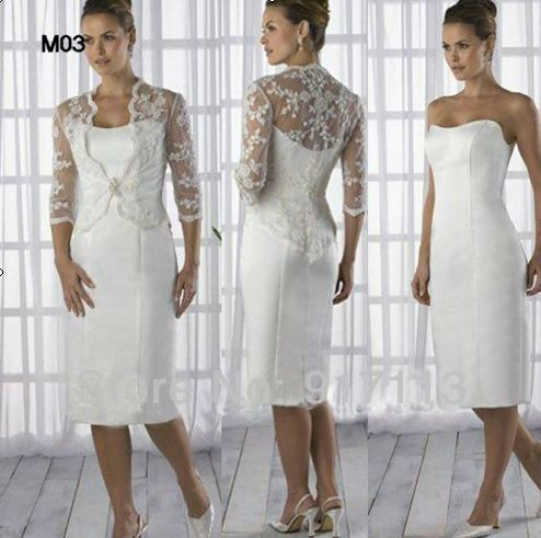 NEW Lace Tea length Wedding Gown Mother of the Groom Outfit Dress free jacket Free Shipping on AliExpress.com. $149.00