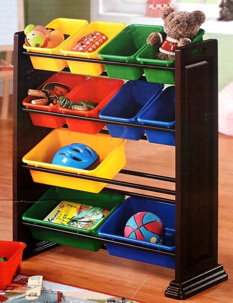 New Whalen 12 Bin Toys Storage Shelving Kids Toy Chest