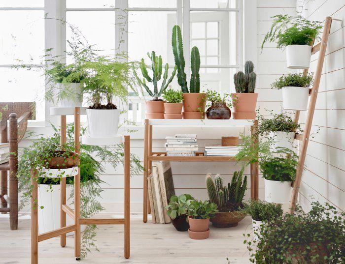 C mo decorar la casa con flores artificiales artificial - Plantas interior ikea ...