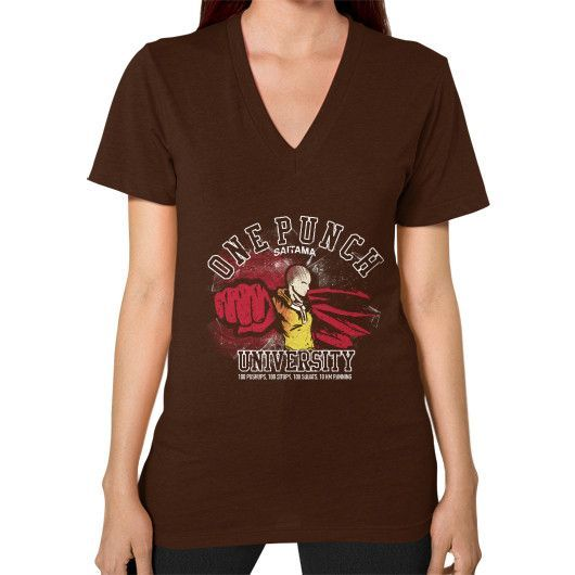 One Punch Training V-Neck (on woman)