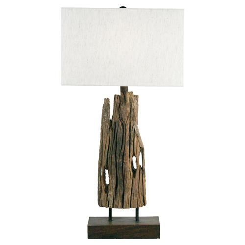 dunes coastal beach reclaimed driftwood table lamp driftwood