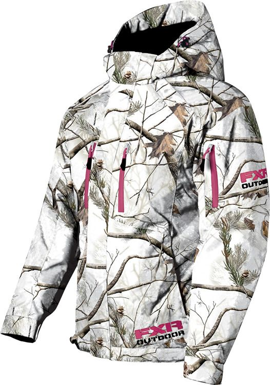 Womens white camo jacket