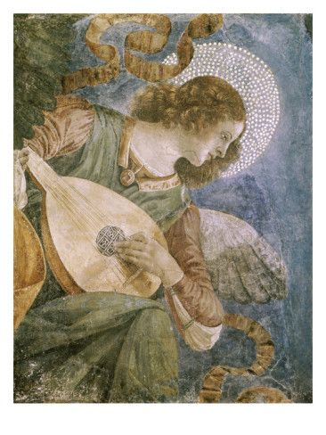 Angel with Lute Giclee Print by Melozzo da Forlí at AllPosters.com