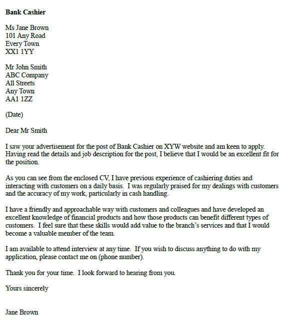 Letter Example Cover Letters Dream Big Bank Career Job Forward