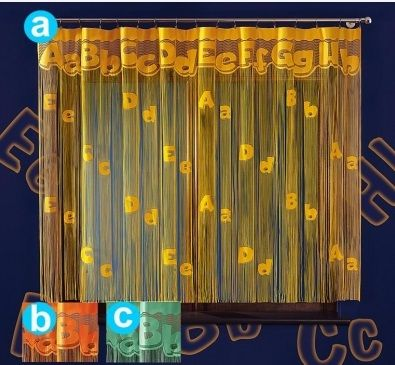 Firanka Dla Dzieci Z Literkami Kids Curtains Curtains Window Decor