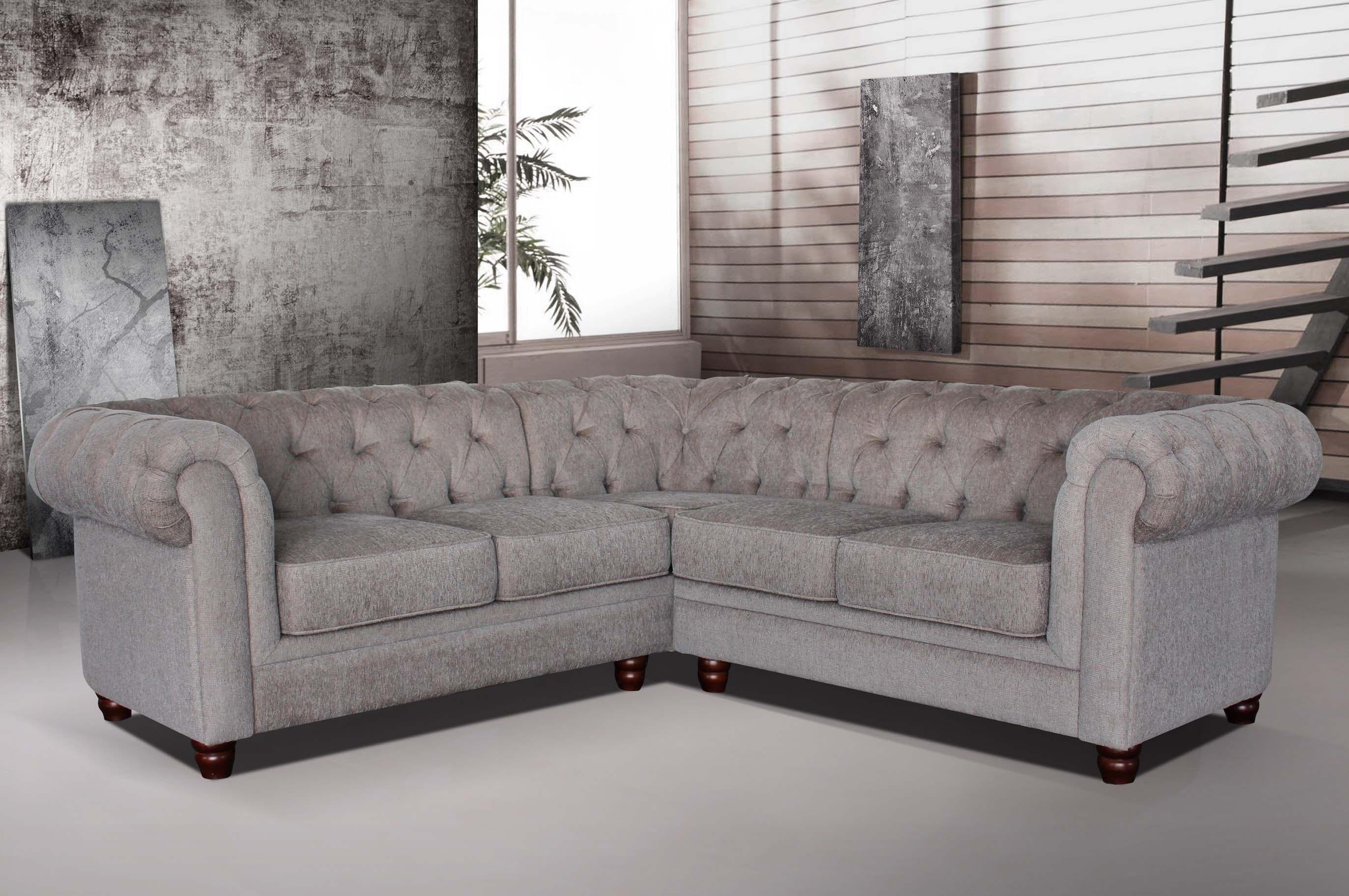 hampton slate fabric chesterfield corner sofa baci living room rh baciamistupido com