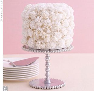 mini cake with flower texture