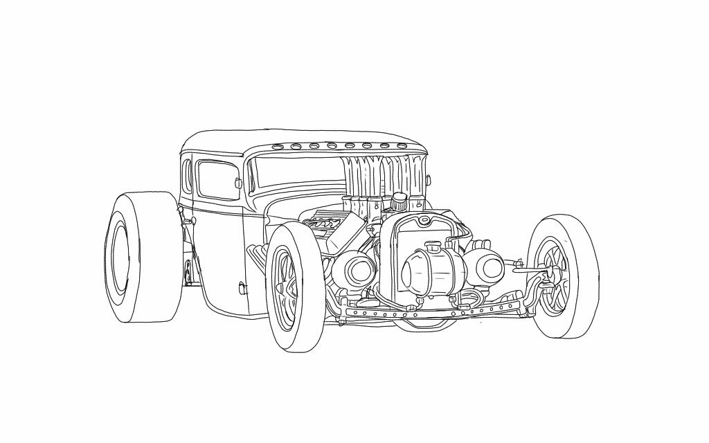 rat rod coloring pages