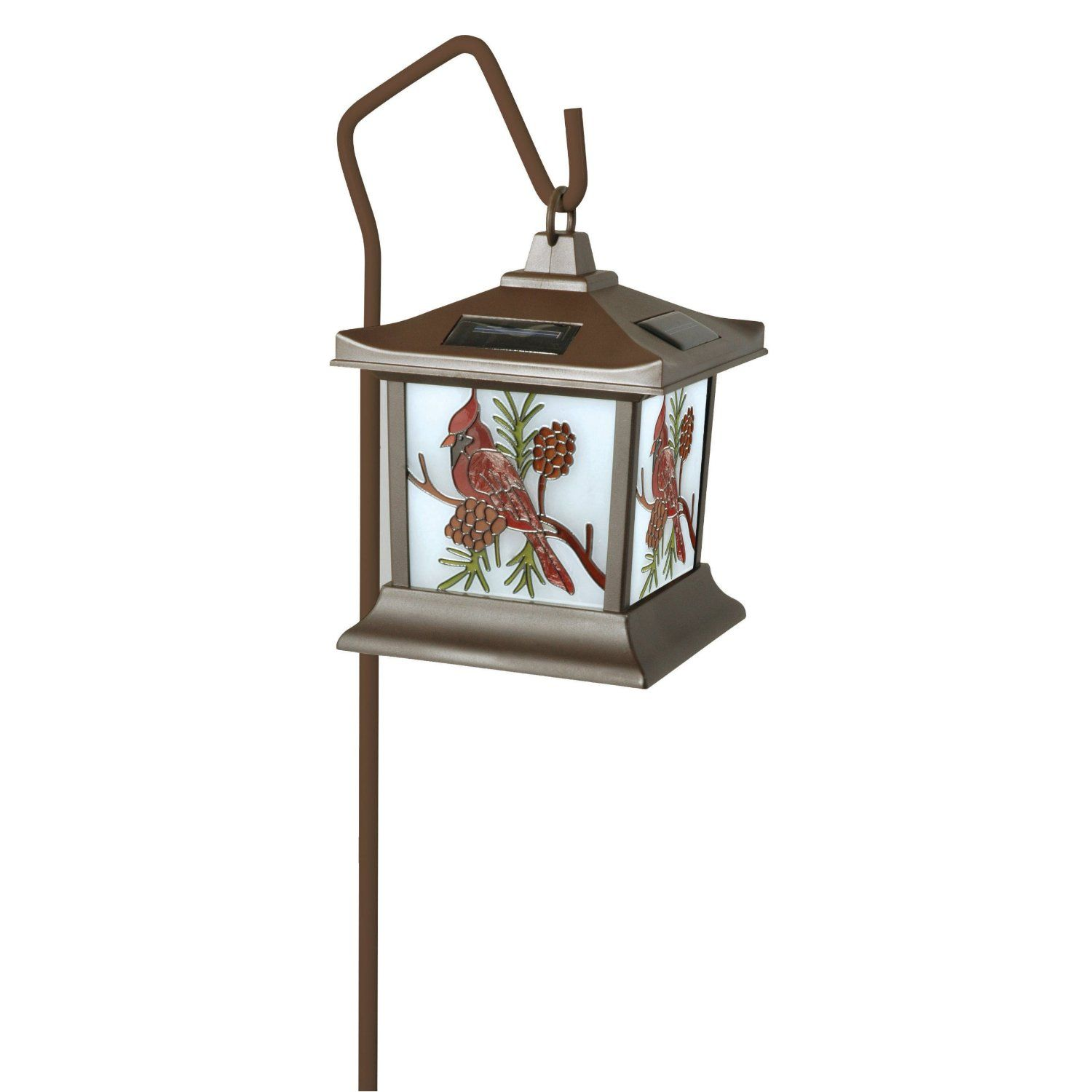 This Beautiful Woods Stained Glass Cardinal Lantern Is A