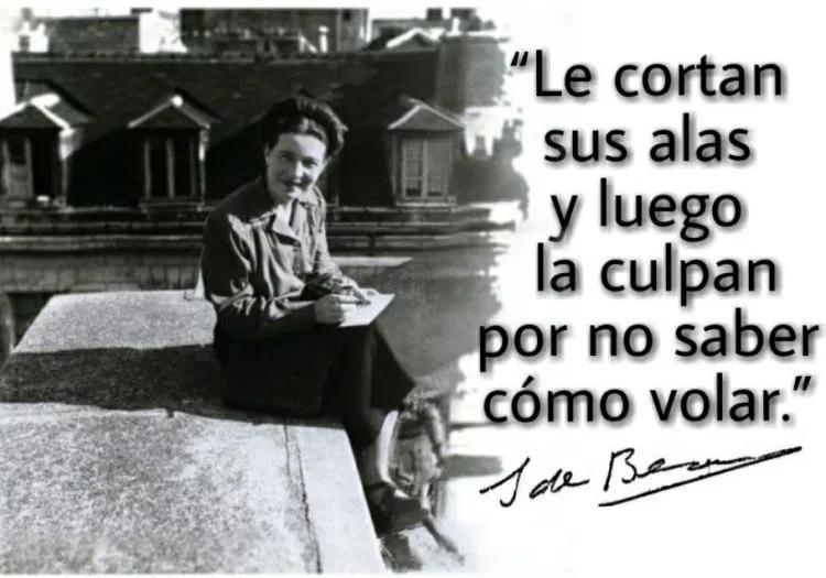Cita De Simone De Beauvoir Sin Alas Con Imagenes Frases