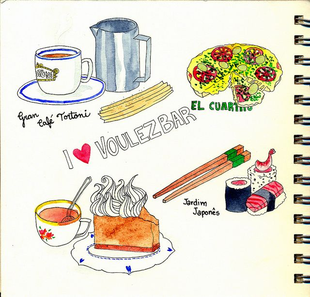 Food Illustration Watercolor Buenos Aires