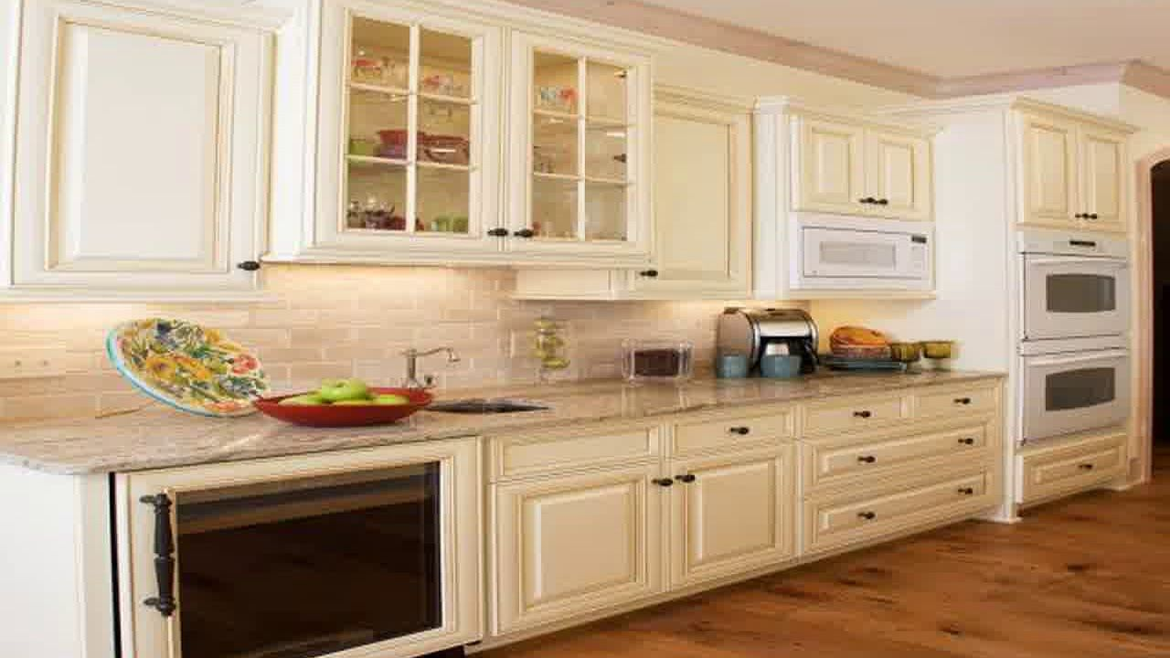 Image Of Cream Kitchen Cabinets Design Ideas Yentua Com Kitchen Cabinet Design White Kitchen Design Glazed Kitchen Cabinets