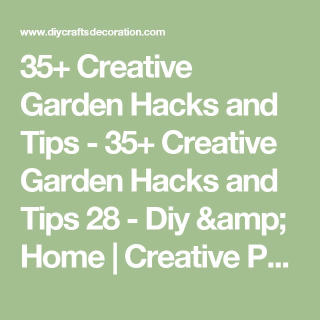 35+ Creative Garden Hacks and Tips - 35+ Creative Garden Hacks and Tips 28 - Diy & Home | Creative Projects For Your Home
