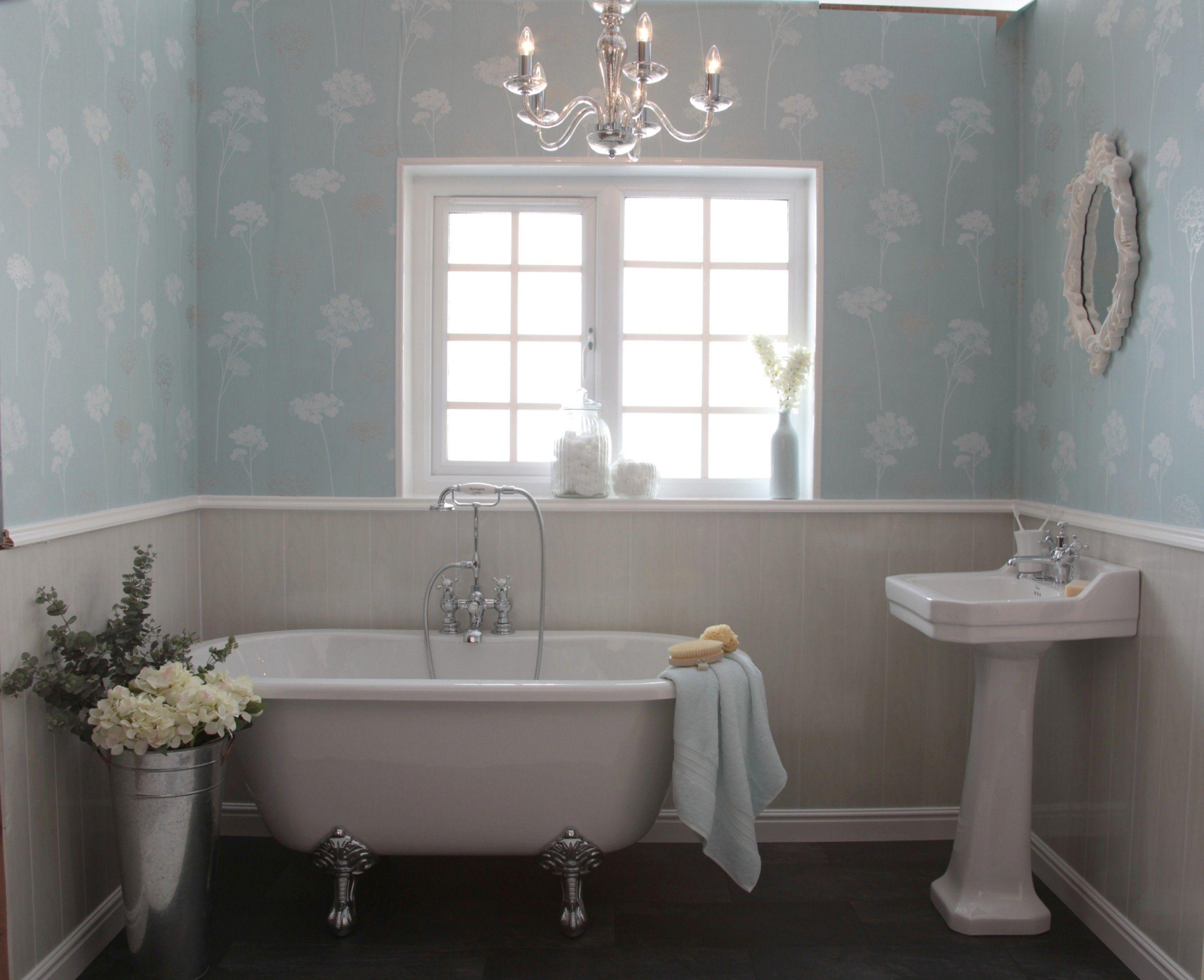 Pin By Nancy Ruiz On Bathroom Ideas Shabby Chic Bathroom Wall Cladding Modern Bathrooms Interior Bathroom Wall