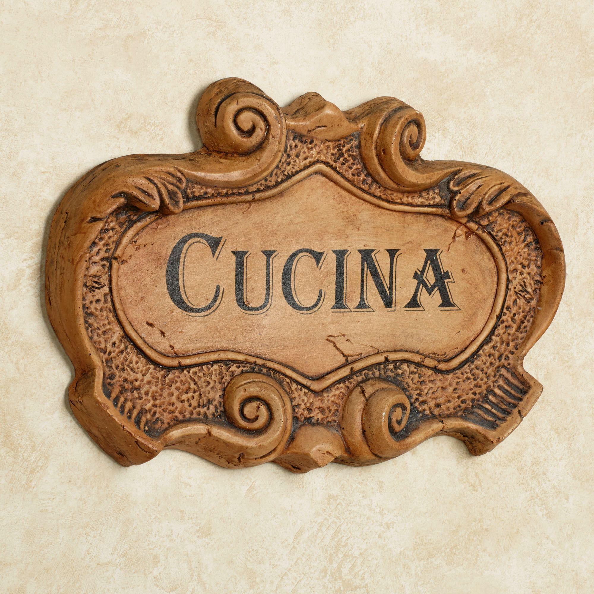 Beau Cucina Italian Kitchen Wall Plaque