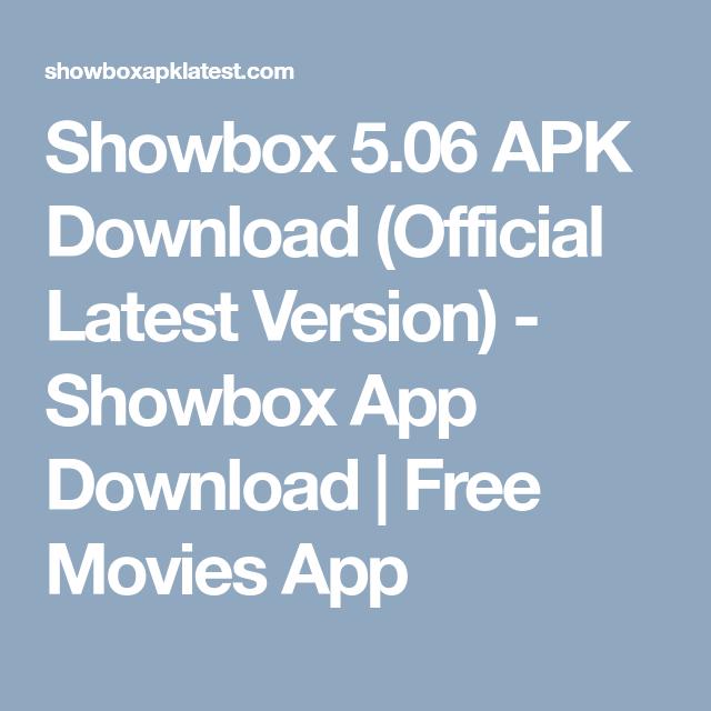 Showbox APK patch
