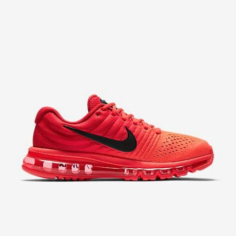 Nike Air Max 2017 Bright Crimson Red Sports Running Shoes