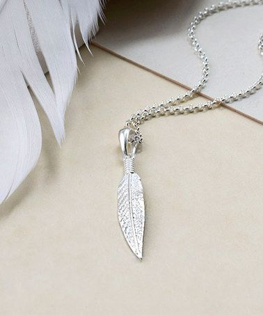 Look what I found on #zulily! Sterling Silver Cheyenne Feather Pendant Necklace…