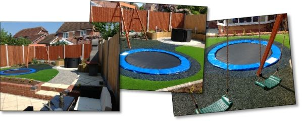 Safe And Cool A Sunken Trampoline For Kids Garten Garten Ideen Und Parks
