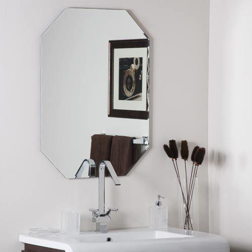 Vintage Large Bevelled Edge Wall Mirror Frameless Mirror Lovely