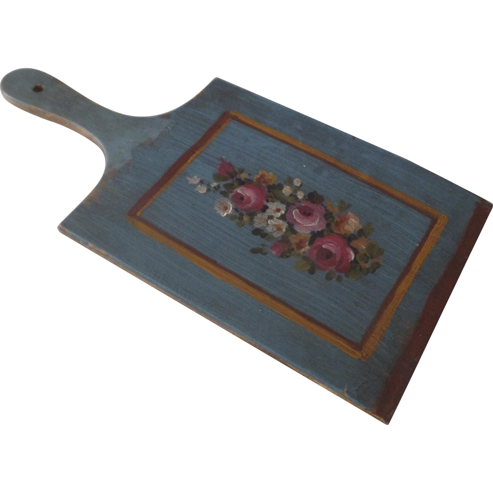 Small Vintage Country Kitchen Cutting Board Hand Painted Vintage