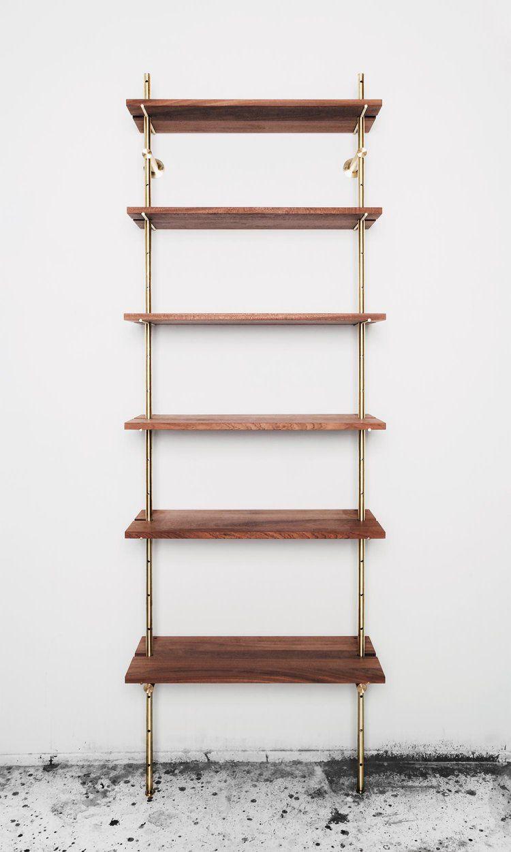 Brass Rail Shelving Object Interface Shelves Wall Mounted Bookshelves Wall Mounted Shelves