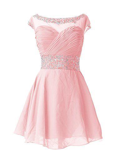 d7cb887ea2 Dresstells Knee Length Prom Dress for Girls Short Homecoming Dress ...