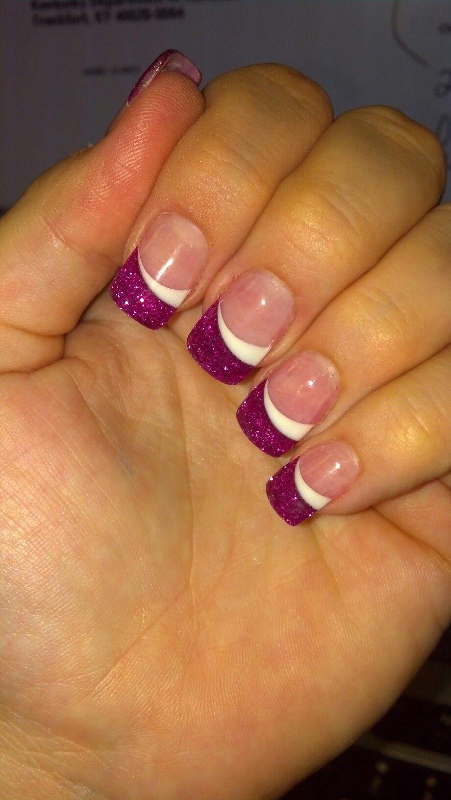 My Nail Guy Calls These Rock Star Nails Lol Nails White Tip Nail Designs White Tip Nails
