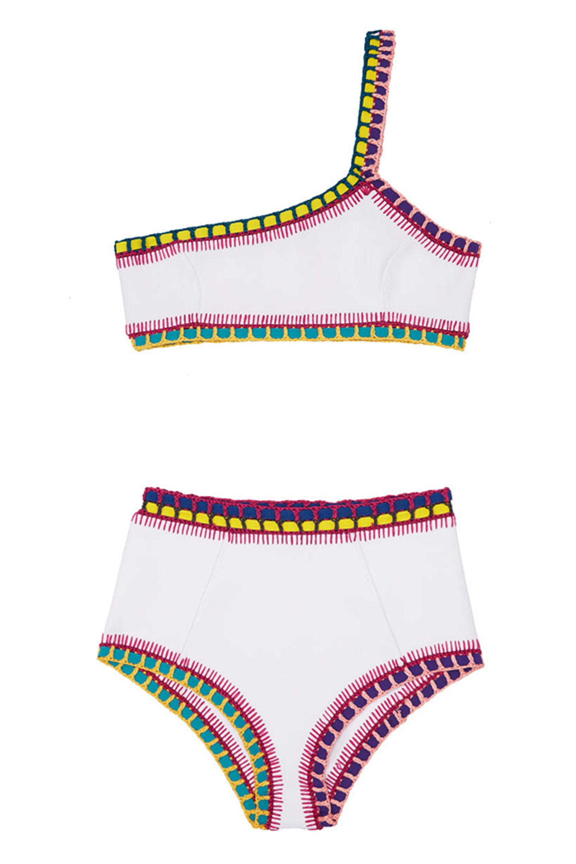17c9814757 23 High-Waisted Bikinis Because You're Probably Ready for a Vacation. Kiini  Yaz One Shoulder Top, $155; kiini.com Kiini Yaz High Rise Bottom, $135; ...