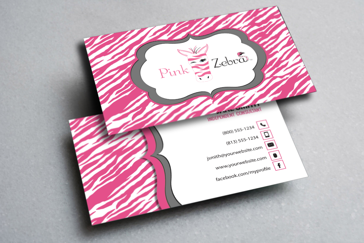 New Pink Zebra Business Cards Are Here Mlm Pinkzebra Print Paper Graphicdesign Businesscards Co Pink Zebra Printing Business Cards Free Business Cards