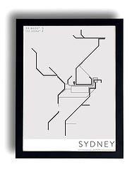 Sydney's Train line Rhythm Poster