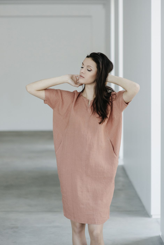 Lininė suknelė No. 15S10   MOTUMO
