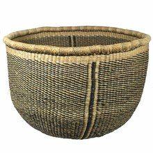 African Bolga Open Storage Basket   Tango Zulu Imports