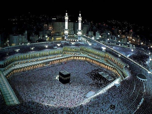 Aerial View Of Makkah At Night Beautiful Mosques Masjid Al Haram Mecca